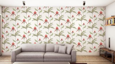 orchid wallpaper for spring from Cole and son