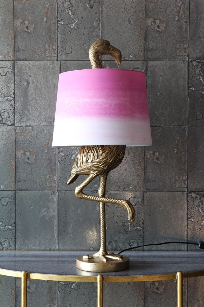 Rockett St George Antique Gold Flamingo Table Lamp