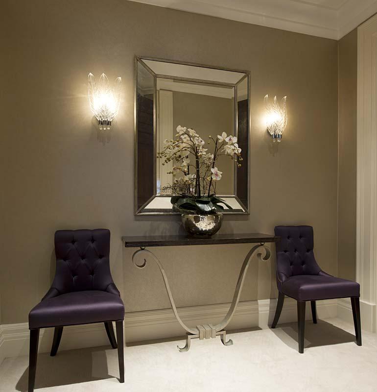 purple satin finish chair
