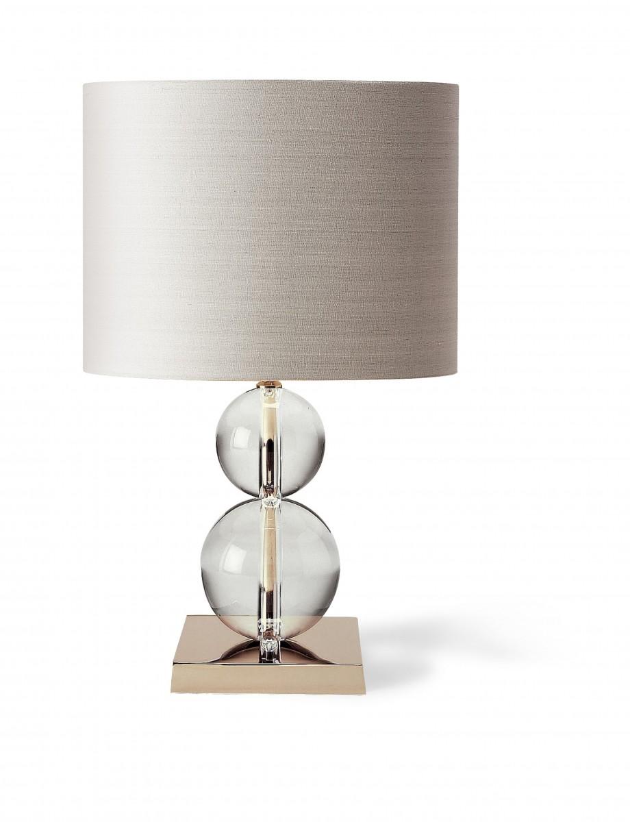 glass bubble lamp detail