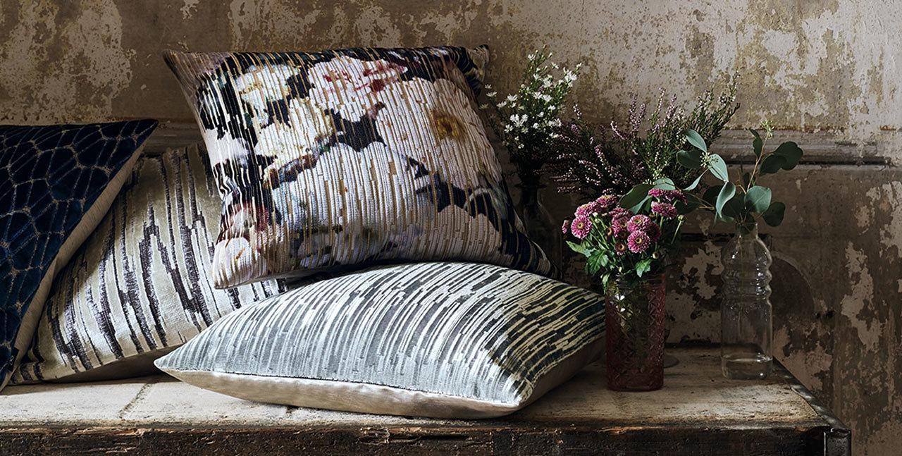 mixed pattern cushions