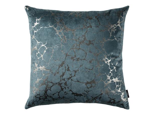 blue silver texture cushion