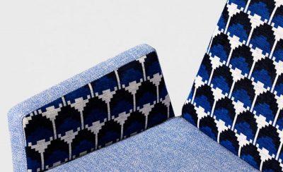 bold patterned upholstery