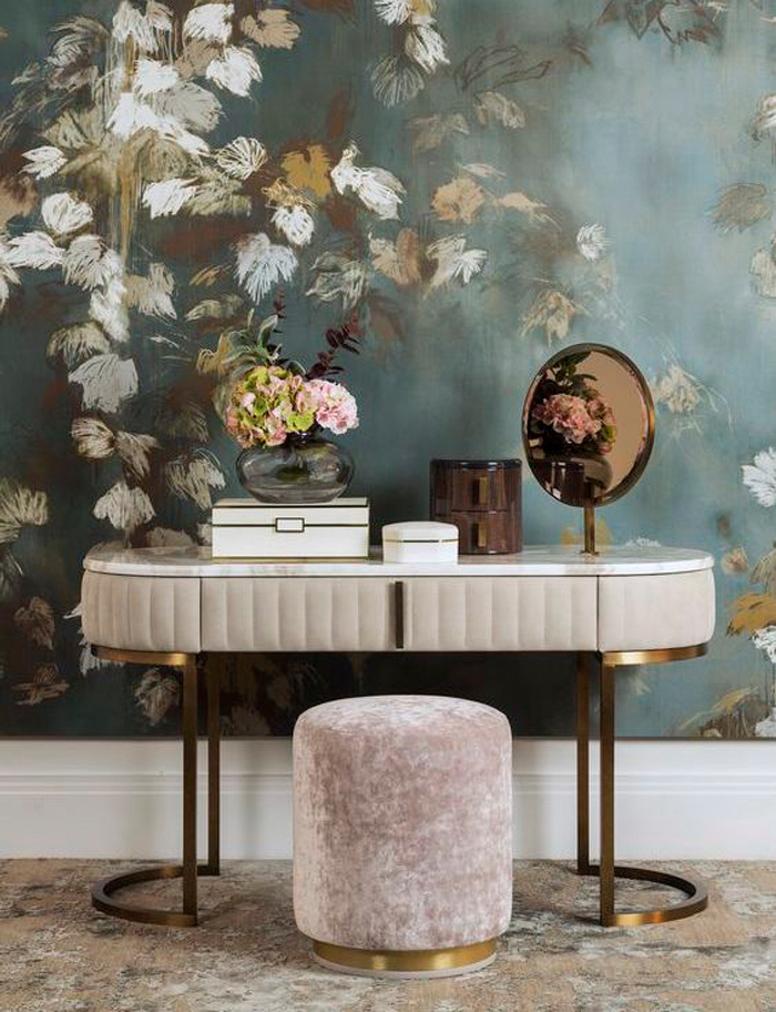 dresser and exquisite wall detail